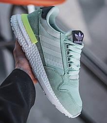 Женские кроссовки Adidas ZX 500 Mint Green замшевые 36-40рр. Живое фото (Реплика ААА+)