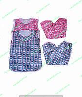 Женская пижама с бриджами,женская одежда от производителя,комсомольский женский трикотаж,кулир