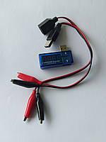 USB тестер измеритель тока напряжения (3-7V) + кабель, фото 1