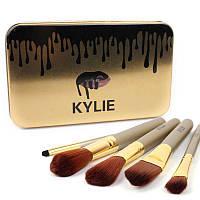Набор кисточек в стиле Kylie большие серебро 12 штук 1403 - 132324