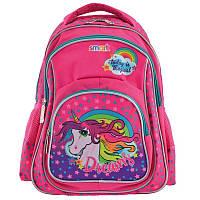 Рюкзак школьный Smart ZZ-01 Unicorn, для девочек, розовый (556803)