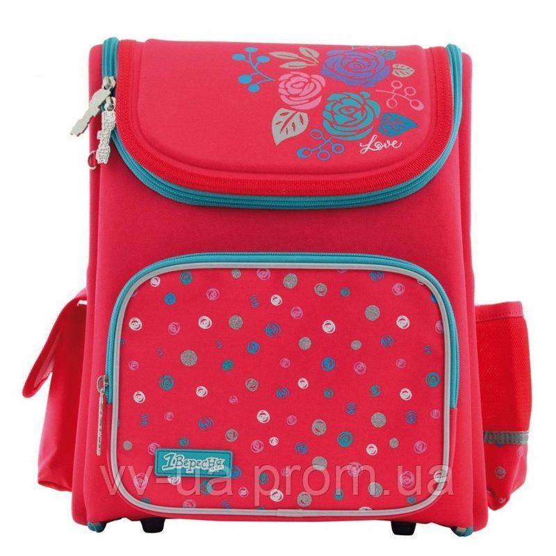 Рюкзак школьный каркасный 1 Вересня H-17 Lovely roses (556331)