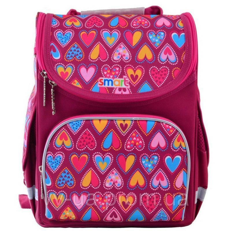 Рюкзак школьный каркасный Smart PG-11 Hearts Style (555920)