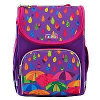 Рюкзак школьный каркасный ортопедический Smart PG-11 Kapitoshka, для девочек, синий (555898), фото 1