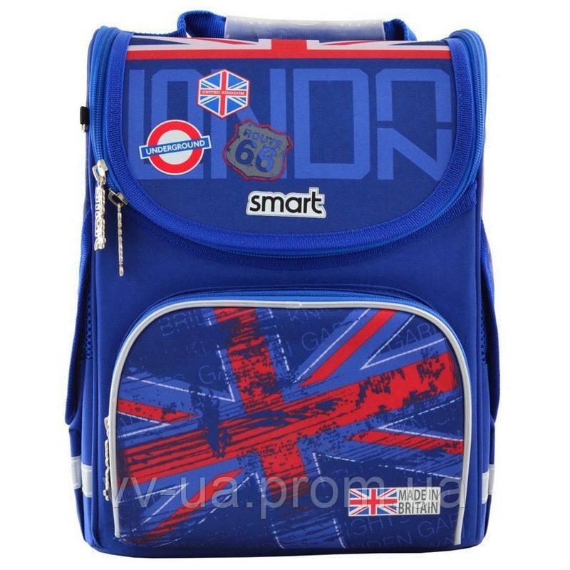 Рюкзак школьный каркасный ортопедический Smart PG-11 London, для мальчиков, синий (555987)