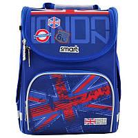 Рюкзак школьный каркасный ортопедический Smart PG-11 London, для мальчиков, синий (555987), фото 1