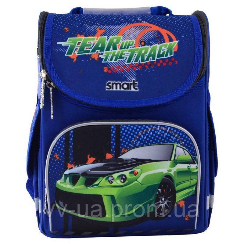 Рюкзак школьный каркасный ортопедический Smart PG-11 Tear Up The Track, для мальчиков, синий (555983)