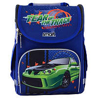 Рюкзак школьный каркасный ортопедический Smart PG-11 Tear Up The Track, для мальчиков, синий (555983), фото 1