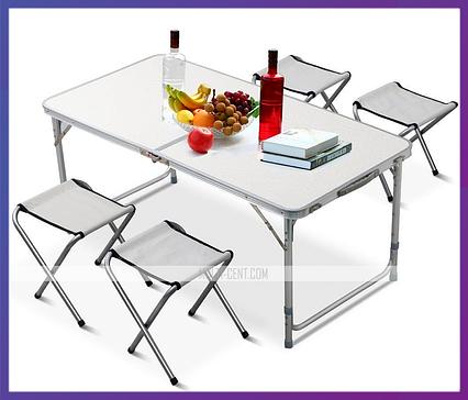 Складной стол для пикника + 4 стула Folding Table Convenient to Take, фото 2