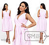 Женское коттоновое платье на запах (4 цвета) - Розовый PY/-003