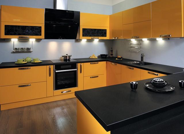 Мебель для кухни Киев, кухни с пленочными фасадами на заказ