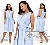Женское коттоновое платье на запах (4 цвета) - Голубой PY/-003