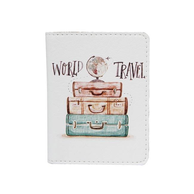 Обложка на ID паспорт пластиковый World Travel