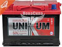 АКБ 75-А/Ч (Unikum) (L+) 600A (278х175х190мм.)   075 11 15 01 0201 07 11 9 R_UK