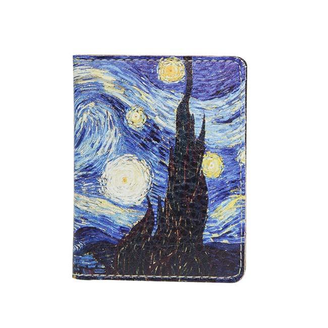 Обложка на ID паспорт пластиковый Ван Гог