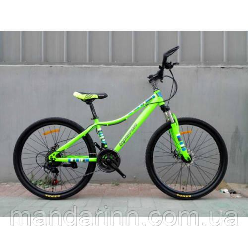 Спортивный велосипед TopRider-900 26 дюймов. Салатовый.