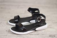 Женские сандали / босоножки, кожа, полиуретан, черные 37 (24 см)