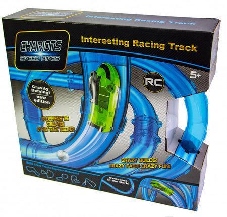 Светящиеся трубопроводные гонки CHARIOTS SPEED PIPES, трубопроводный автотрек, гоночный трек 27 детали