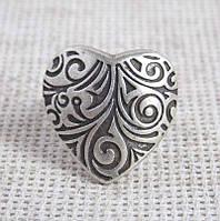 Кольцо Сердце под серебро ТМ Скифская Этника, фото 1