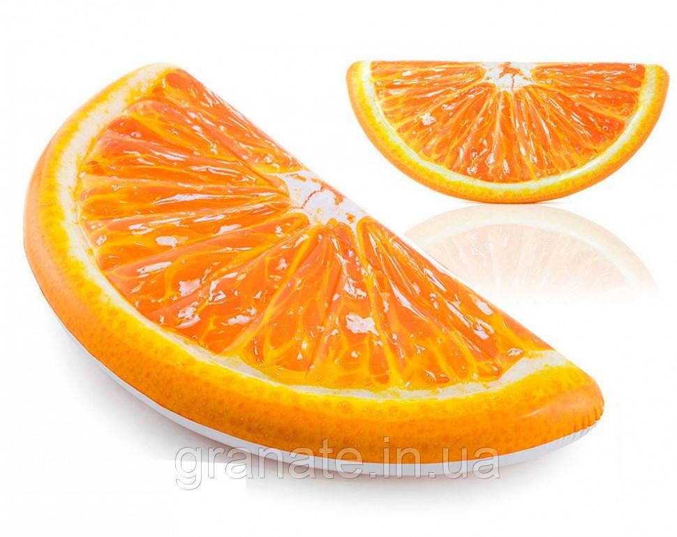 Надувной пляжный матрас долька апельсина 178см х 85см