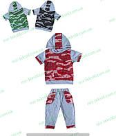 """Летний костюм на мальчика кауфляж  """"Футболка с бриджами для мальчика кулир цветной"""""""