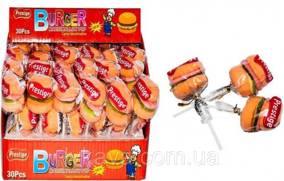 Маршмеллоу  Burger Marshmallow POP Prestige, 30 шт х 15 гр