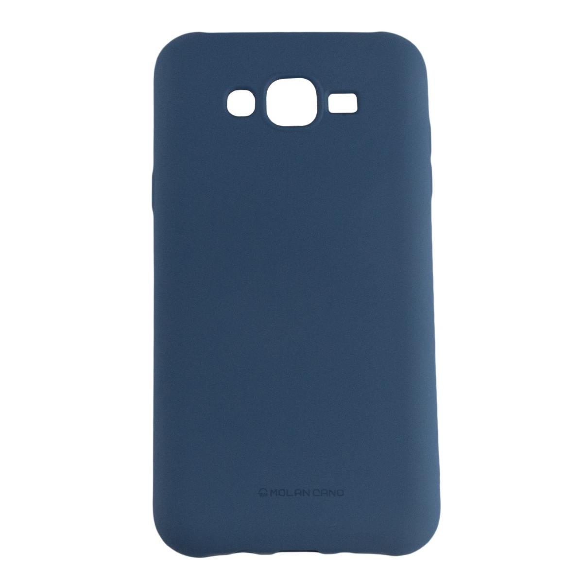 Оригинальный силиконовый чехол Molan Cano Jelly Case для Samsung Galaxy J7 (J700) (синий)