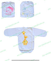 Бодики детские,белый детский бодик  с накатом ,бодики,одежда для новорожденных,комсомольский трикотаж , хлопок