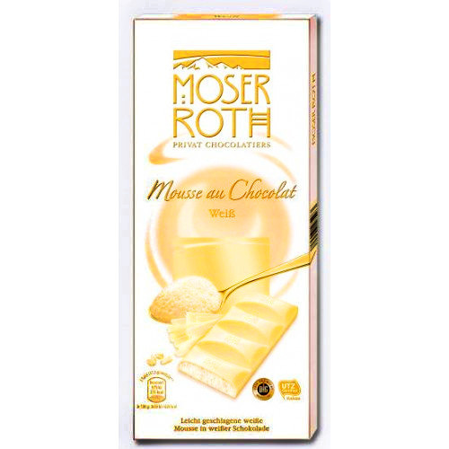 Шоколад белый Moser Roth Mousse au Chocolat Weiss 150гр. Германия