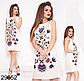 Женское летнее платье с узором без рукавов (фиалка) 829654, фото 2
