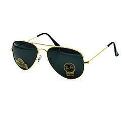 Очки Ray Ban Aviator черные + золото (replica)