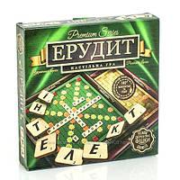 Классическая настольная игра Эрудитдля всей семьи и любого возраста, премиум серия, деревянные фишки,G-ER-U