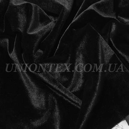 Ткань бархат стрейч черный, фото 2