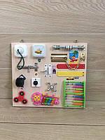 Бизиборд 40*35 см, Bizibord, бізіборд, busyboard, развивающая доска для малышей