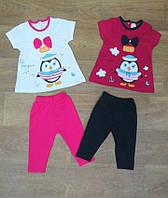 Летний костюм для девочки турецкий,турецкий детский трикотаж,детская одежда из Турции,интернет магазин,коттон