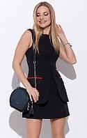 Черное мини-платье А-силуэта. Модель 21360. Размеры 42-48