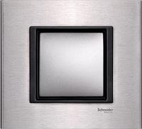 Рамка одноместная Schneider electric Unica class серебристый алюминий