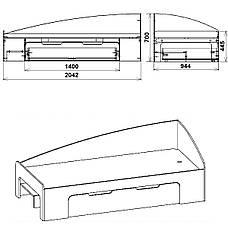 Кровать-90+1 Односпальная Компанит, фото 3