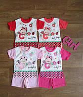 Летний ясельный костюм для девочки Турция,детский турецкий трикотаж,детская одежда Турция,интернет магазин