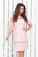 Женское модное стильное платье Эко-кожа