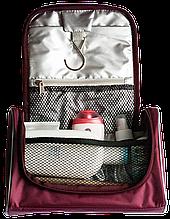 Органайзер кейс для косметики подвесной дорожный Премиум Бордовый, розовый