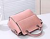 Женская сумка классическая Валенти трапеция Розовый, фото 3