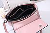 Женская сумка классическая Валенти трапеция Розовый, фото 4