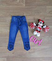 Джинсы для девочки зауженные с вышивкой,турецкая детская одежда,интернет магазин,одежда из Турции,джинс