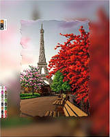 """Схема для вышивки бисером на подрамнике (холст) """"Париж"""""""