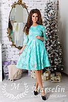 Женское красивое платье расшито паеткой в ромашку