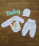 Набор для новорожденного крестильный,Костюм,комплект для новорожденных,одежда для новорожденных,кулир