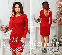 Женское удобное прямое платье из люрекса