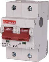 Автоматический  выключатель e.mcb.stand.45.2.C3 2р 3А C 3.0 кА, фото 1