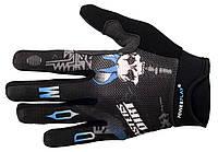 Велосипедные перчатки для настоящих мужчин Downhill. Черный